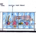 Elevation of Shop Fronts to Prominade